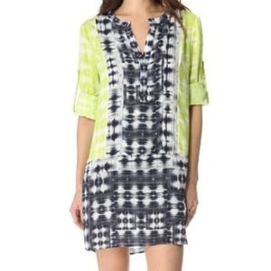 BcbgMazazria Clementin Print Blocked Tunic Dress